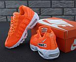 "Мужские кроссовки N1ke Air Max 95 ""Just Do It"" Orange. Живое фото (Реплика ААА+), фото 10"