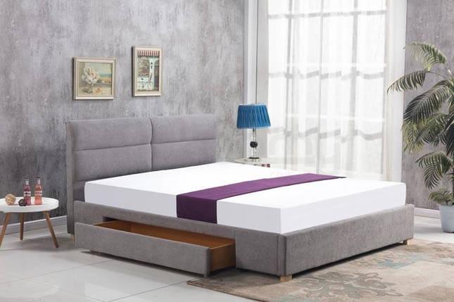 Кровать MERIDA 160x200 светло-серая Halmar, фото 2