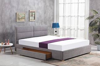 Кровать MERIDA 160x200 светло-серая Halmar