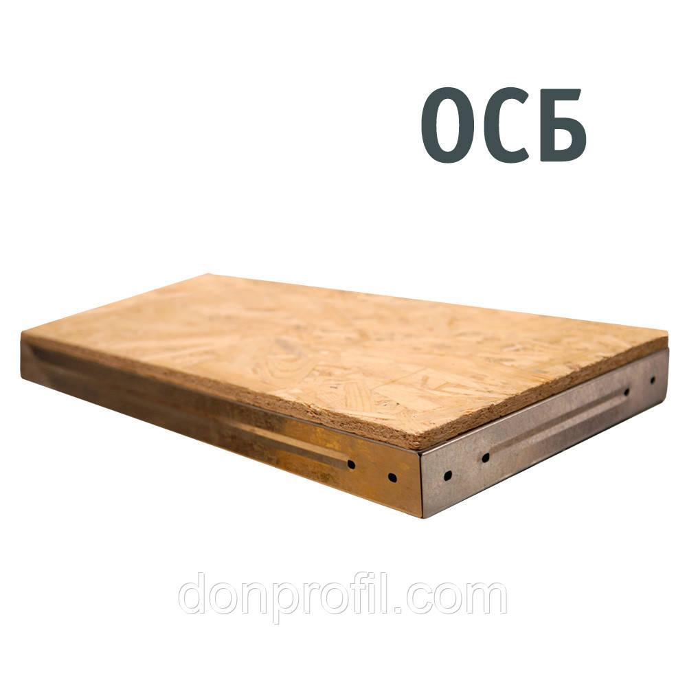 Полиця ОСБ у металевому каркасі стелажна для гаража, підвалу, кладової