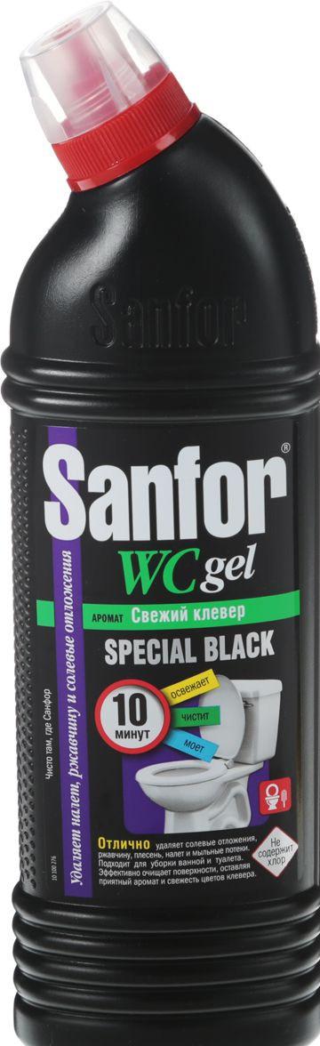 """Гель для туалета """"Sanfor"""" WC Gel Special Black """"Цветущая сакура"""" 1000мл"""