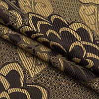 Декор-гобелен цветок пиона старое золото,коричневый