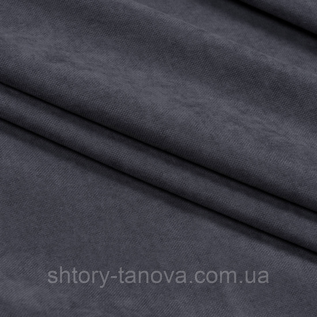 Нубук тканина для штор графіт