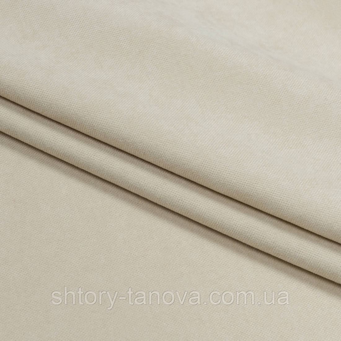 Нубук ткань для штор  крем-брюле