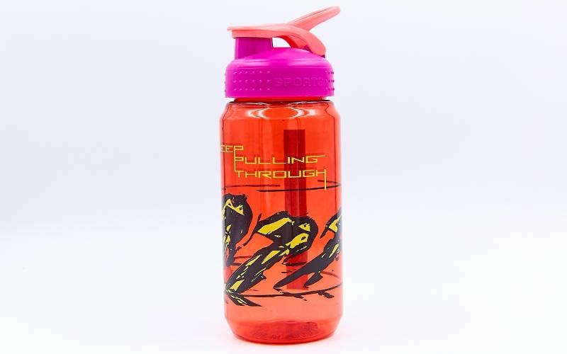 Пляшка для води спортивна 6639 600мл BASKETBALL