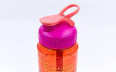 Пляшка для води спортивна 6639 600мл BASKETBALL, фото 3