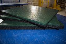 Резиновая плитка 500х500х30 зеленая