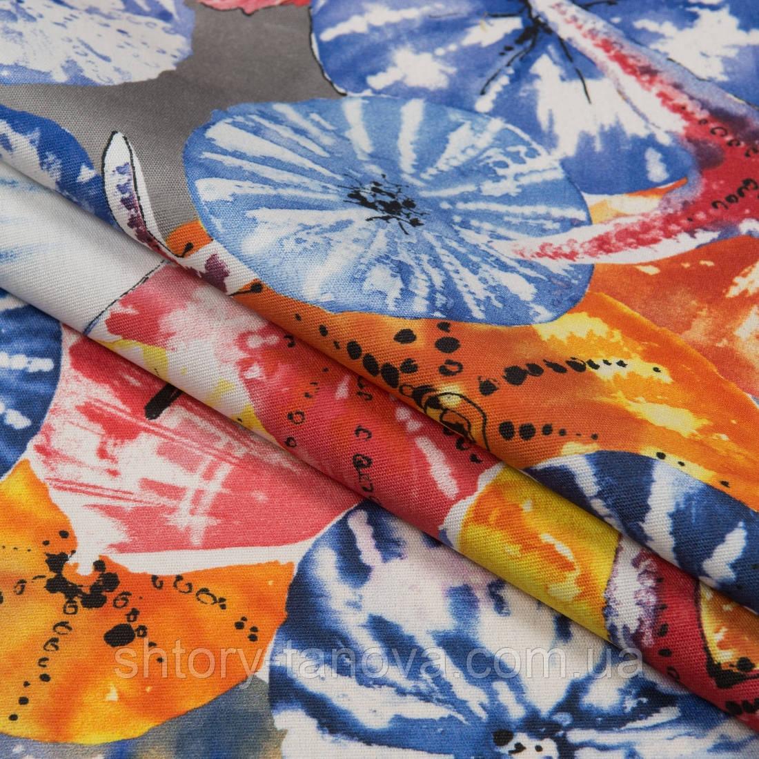 Ткань с тефлоновым покрытием Дралон принт гета/geta с морским принтом, тканевые шторы для ванной, бассейна