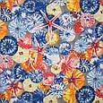 Ткань с тефлоновым покрытием Дралон принт гета/geta с морским принтом, тканевые шторы для ванной, бассейна, фото 3