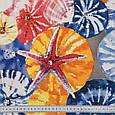 Ткань с тефлоновым покрытием Дралон принт гета/geta с морским принтом, тканевые шторы для ванной, бассейна, фото 2