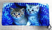 """Кошелек """"Котики"""", синий"""