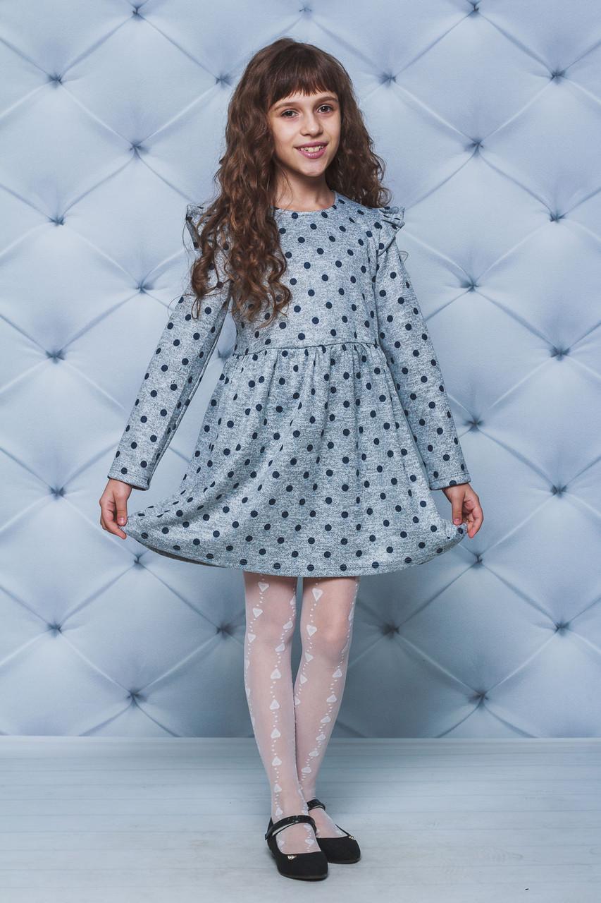 Платье для девочки Горох св-серое