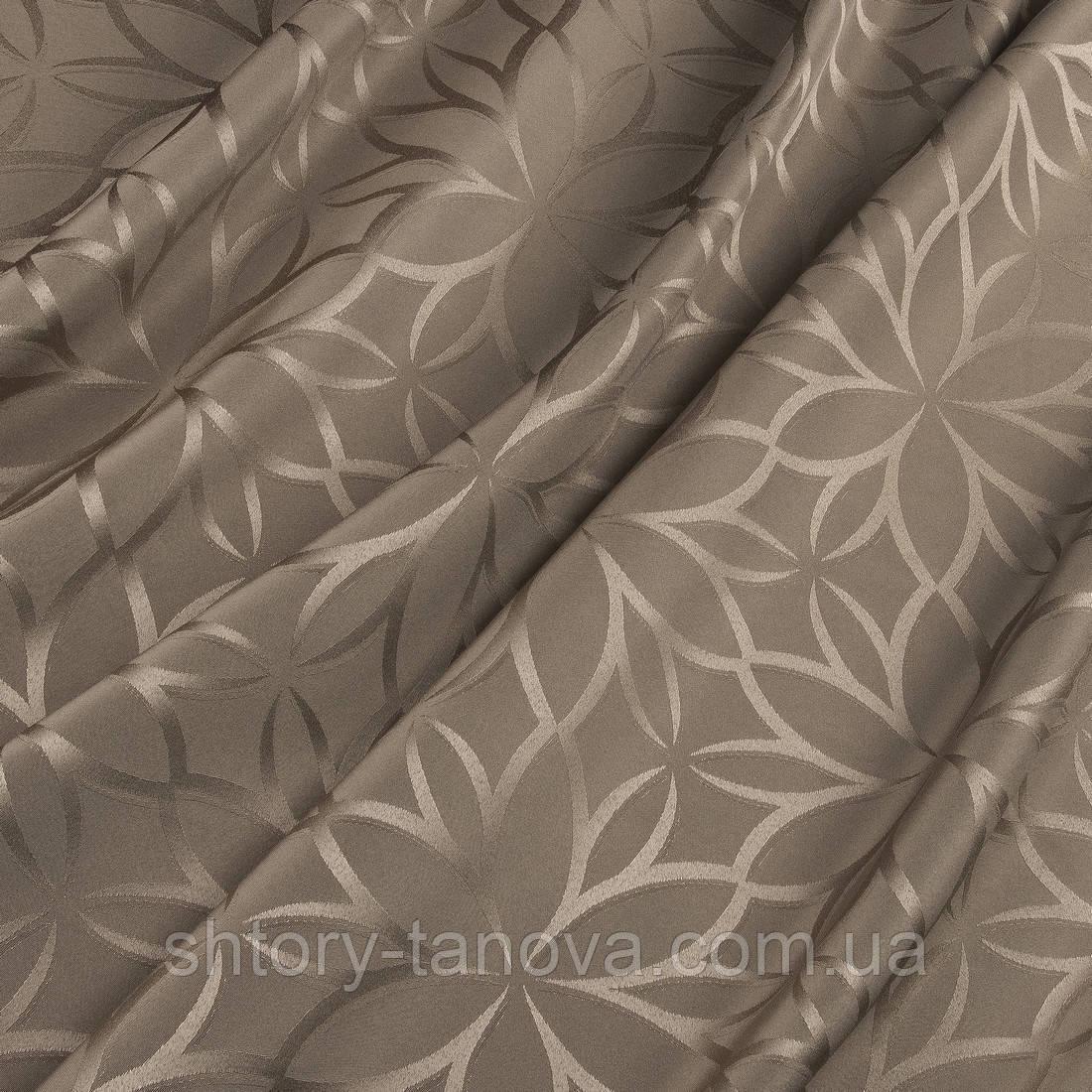 Портьерная ткань моту капучино