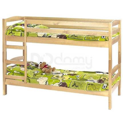 Кровать двухъярусная с двумя матрасами Sam Halmar Сосна, фото 2