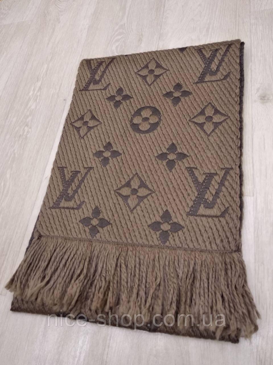 Шарф Louis Vuitton капучино хаки