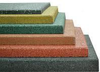 Резиновая плитка 500х500х30 коричневая , фото 1
