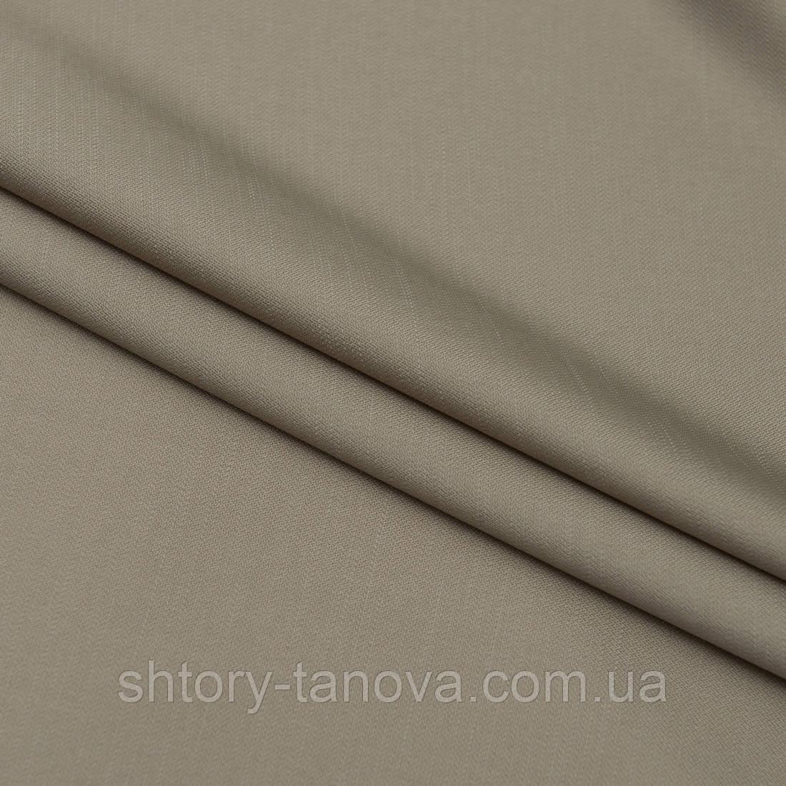 Портьерная ткань с утяжелителем тафта т.беж