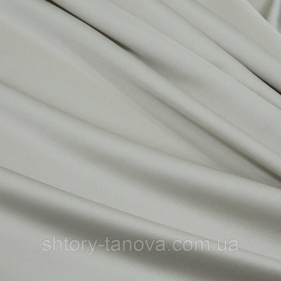 Портьерный атлас плотный крем-брюле