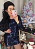 Шикарне плаття з блискучою пайеточной тканини . Розмір: М-42 І Л-44 . Різні кольори (0430), фото 2