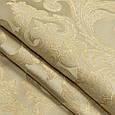 Портьерная ткань ревью фон беж-золото , фото 3