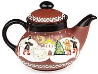"""Заварочный чайник керамический """"Рождество"""" 1л"""