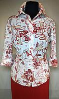 """Блуза """"Betty Barclay"""" (Германия) цветная легкая с рукавом 3/4. Размер: 40 (L)."""