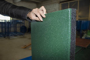Резиновая плитка 500х500 30 мм