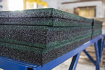 Резиновая плитка 500х500х40 зеленая