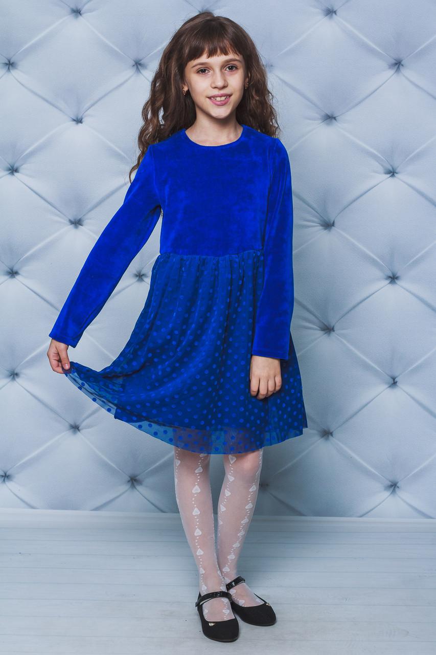 Нарядное платье для девочки электрик