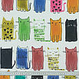 Ткань с акриловой пропиткой цветные котики , фото 3