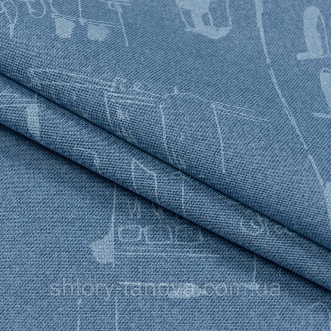 Ткань с акриловой пропиткой leonardo /леонардо т.голубой