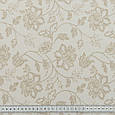 Ткань с акриловой пропиткой цветы жаккард беж, фото 3