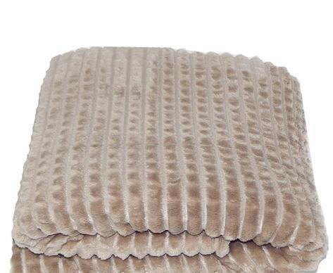 Плед плюшевый микрофибра крокодил Капучино
