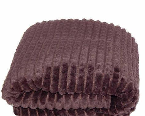 Плед плюшевый микрофибра крокодил Темно коричневый