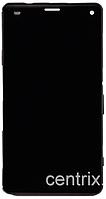 Дисплей (экран) для Sony D5803 Xperia Z3 Compact/D5833 + тачскрин, черный, с передней панелью, оригинал