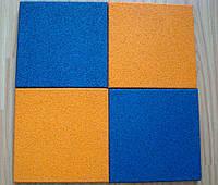 Резиновая плитка 500х500х40 желтая , фото 1