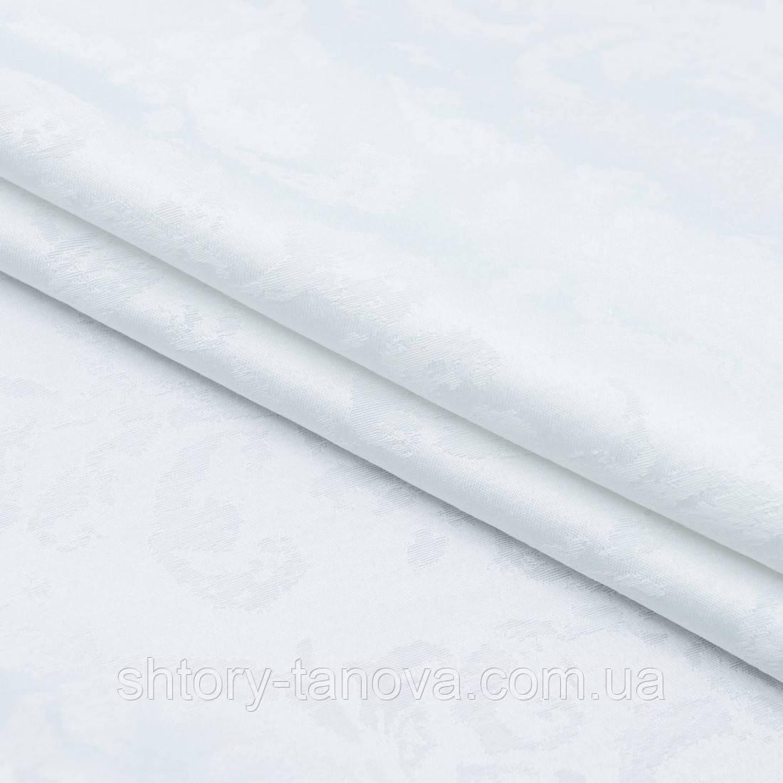 Скатертная тканина жаккард юно білий