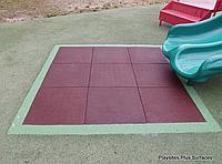 Резиновая плитка 500х500х40 красная , фото 1