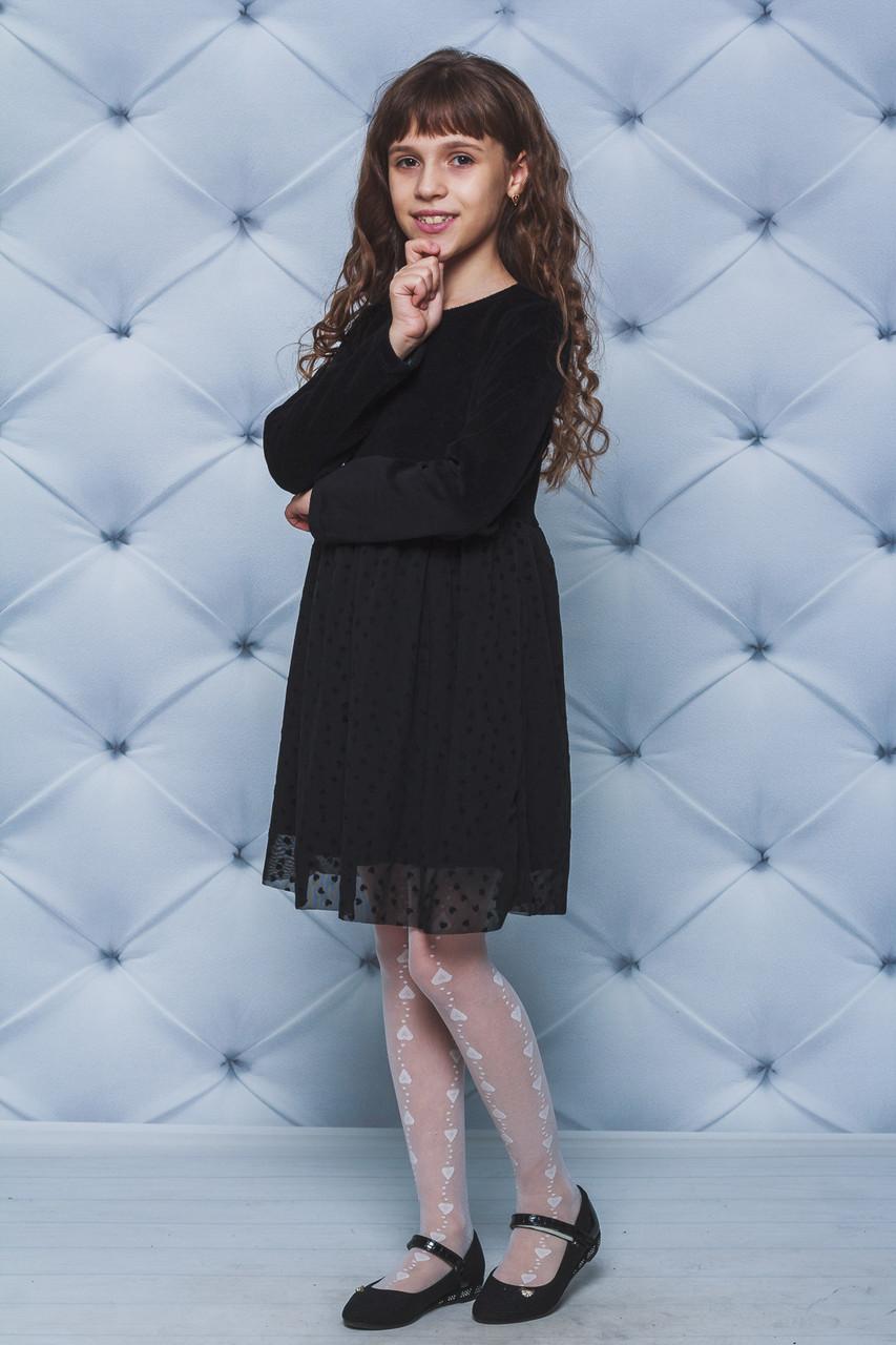Нарядное платье для девочки черное