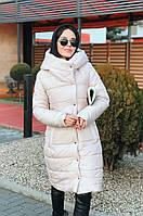 Пальто женское на синтепоне удлиненное  ам245, фото 1