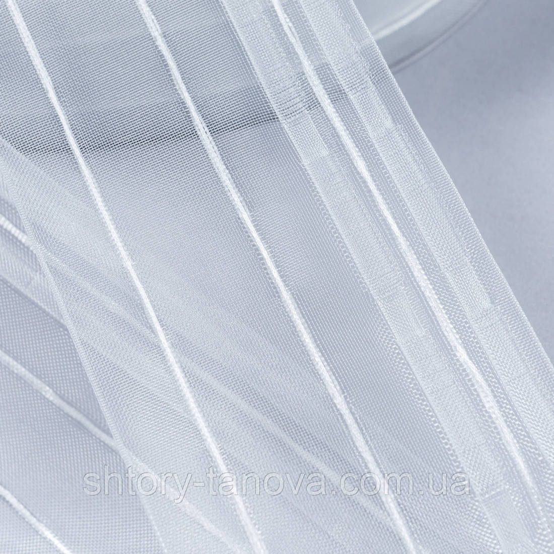 Тесьма шторная к-1:2 100мм/100м прозрачная равномерная