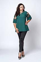 Очень красивая женская блуза с короткими рукавами 52-58