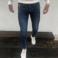 Мужские джинсы темно-синие в стиле Луи Виттон