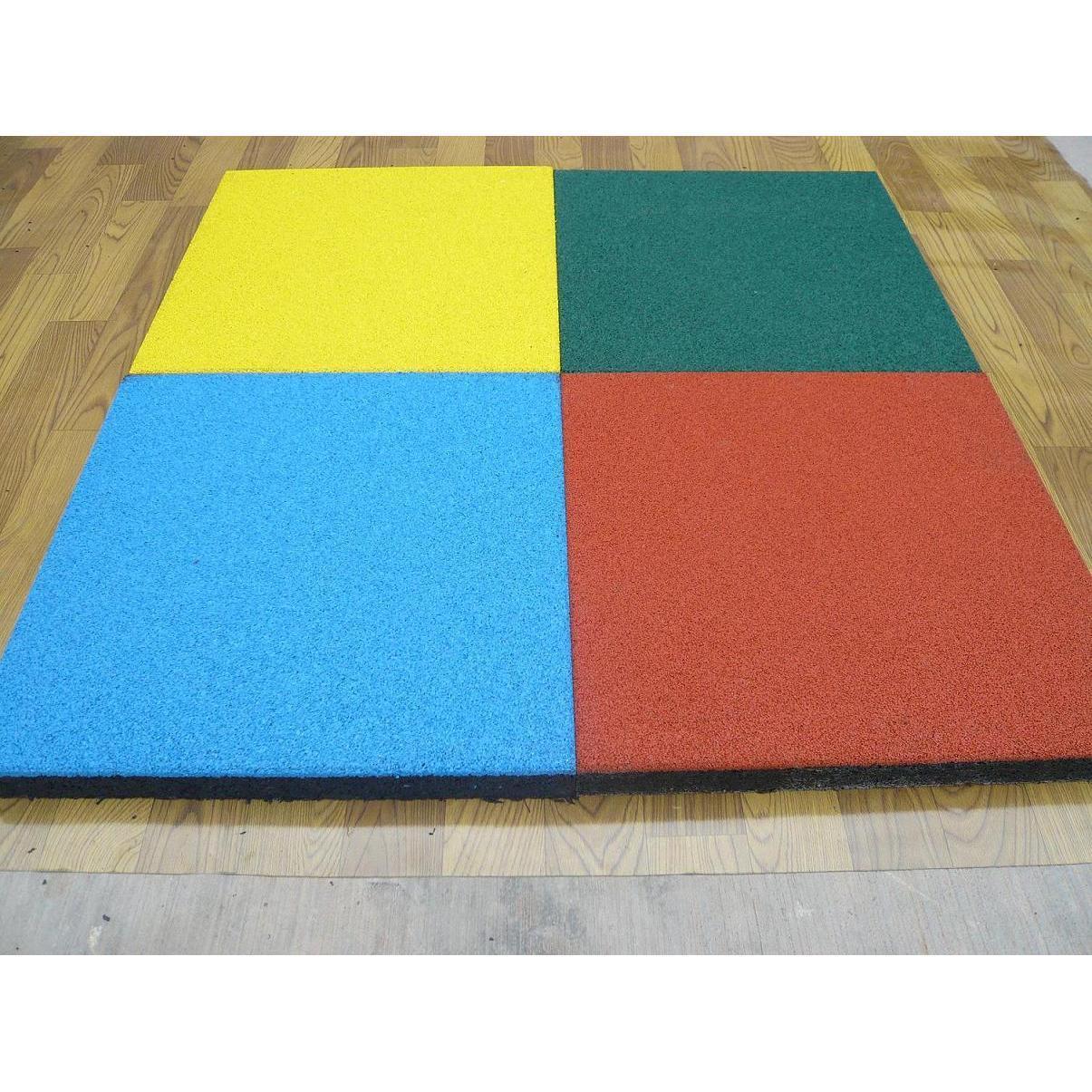 Резиновая плитка 500х500х40 ярко-желтая