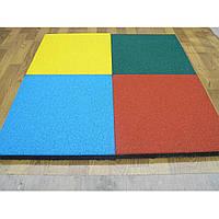 Резиновая плитка 500х500х40 ярко-желтая, фото 1
