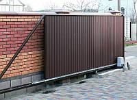 Откатные ворота на консольной системе (4600-5000)