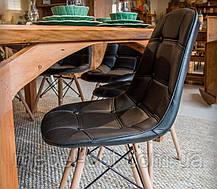 Стул Alex черная экокожа на деревянных ножках, скандинавский стиль, дизайн Charles Eames, фото 2