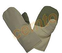 Рукавицы , х.б. с брезентовым наладонником, рукавиці бавовняні за надолонником