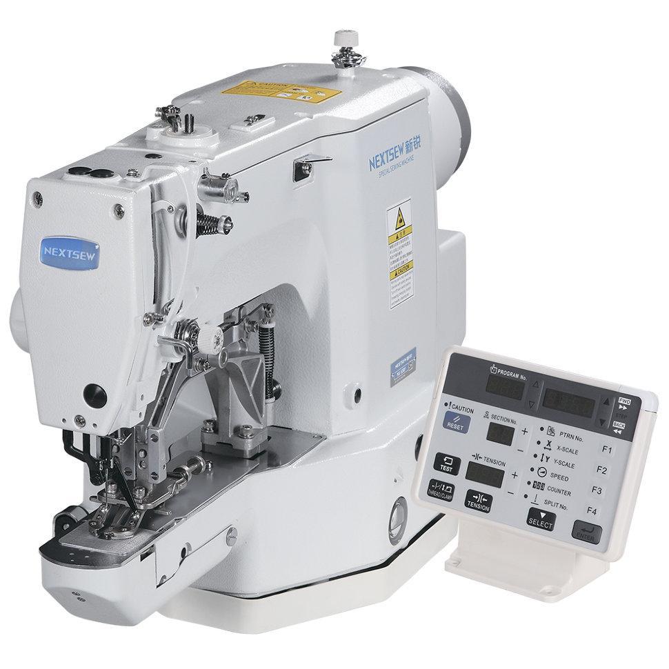 Nextsew NS-530H, компьютерная пуговично-закрепочная швейная машина, для плоских пуговиц, с 2,3,4 отверстиями