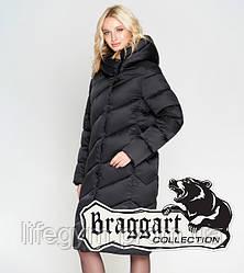 Пуховик длинный зимний Braggart Angel's Woman батал | Зимний воздуховик женский черный